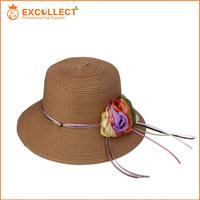 Peru Straw Hats, Top Quality New Fasion Flower Peru Straw Hats
