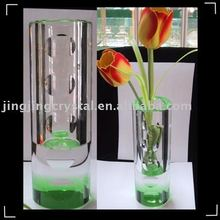 2015 new fashion crystal flower vase craft for home decoration wedding gift
