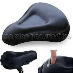 Cycling Bike Bicycle Silicone Saddle Seat Cover Silica Gel Cushion Soft Pad