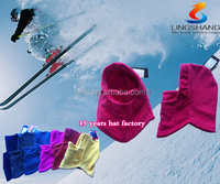 FL-17 Ningbo Lingshang be mad from 100% polyester and fleece colorfuldesign be used for unisex windstopper Balaclava