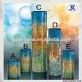 Cristal de Bohemia anticuario barato mosaico de vidrio florero venta al por mayor