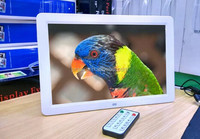 15.4 inch led electronic photo frame support RM / RMVB / MKV / MOV / M4V / MPG / FLV / PMP / AVI / VOB / DAT / MP4 / 3PG.