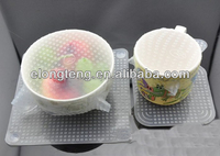 durable silicone food wrap silicone transparent preservative stretch film