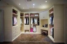 MOGANSHAN Bedroom Furniture Wood Walk-in / Open Wardrobe Closet Design