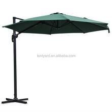 beanty aluminum green UV protect waterproof umbrella,decoration coffee shop roma umbrella