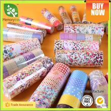 wholesale custom printed washi tape gift packing DIY making decoration washi tape