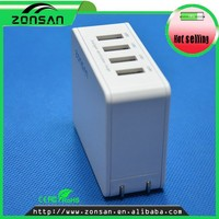 Small Size 4-port USB AC Wall Charger/Travel Charger Plug for United Sates