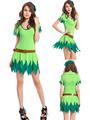 Hada verde traje adulto Tinkerbell campana del chapucero de Halloween vestido de lujo