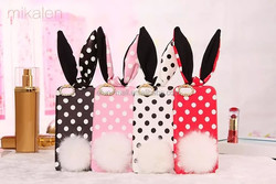 """Cute White Dots Rabbit Back Case Cover For iPhone 6 4.7'' 5.5""""/ iPhone 5G"""