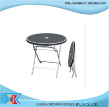 black glass folding dining table
