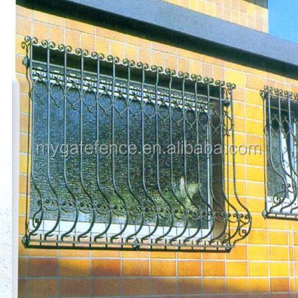 Moderne en acier fen tre grills fer fen tre grill for Fenetre a fer maille et verre dormant
