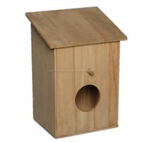 Outdoor Decorative Wood Bird House, High Quality Wood Bird House,Red Roof Bird House,Decorative Bird House