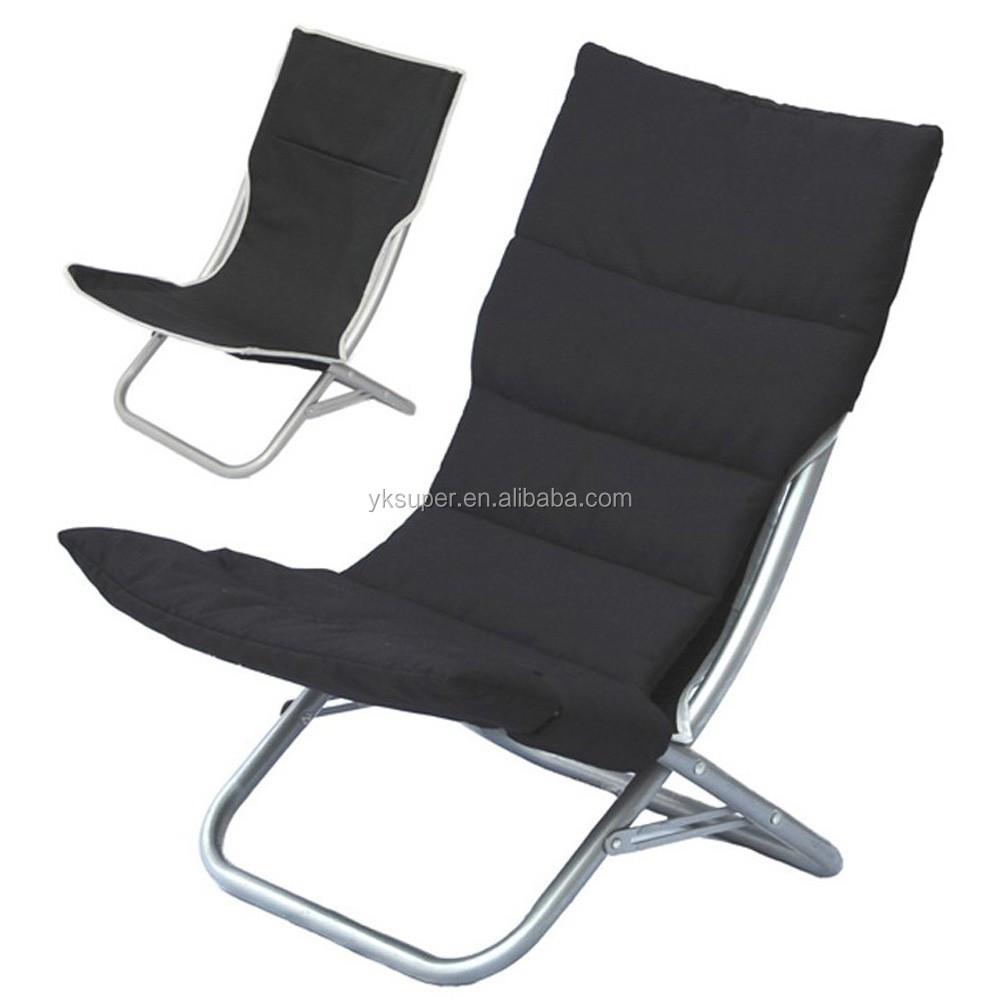 Folding Reclining Lounge Beach Chair With Headrest Buy Folding Beach Chair