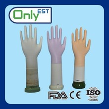 AQL4.0 embossed 9.5inch powder free colorful long nitrile exam glove