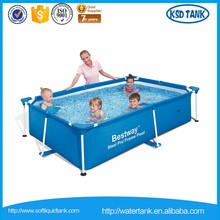 rectangular water pool with frame for children play
