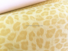 Yanbuck fabric Printed pu synthetic leather Nonwoven leather materials for shoes 4 Types