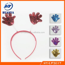 Cheerleading hair band hand shape performance props hairbands for party