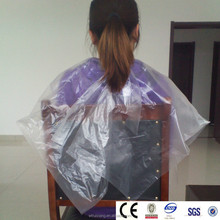 Certificated customized plastic PE barbers capes