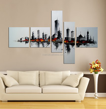modern abstract painting on the wall