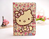 Hello kitty cute cartoon pattern leather case cover with stand for ipad mini 3
