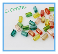 New style Machine Cut Crystal Glass transparent Rectangular Bead