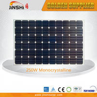 Factory Direct Sale 250w mono solar panel cells high efficiency