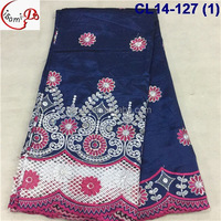 CL14-127 (1) multicolor African Nigeria fashion elegant George lace embroidery lace fabric