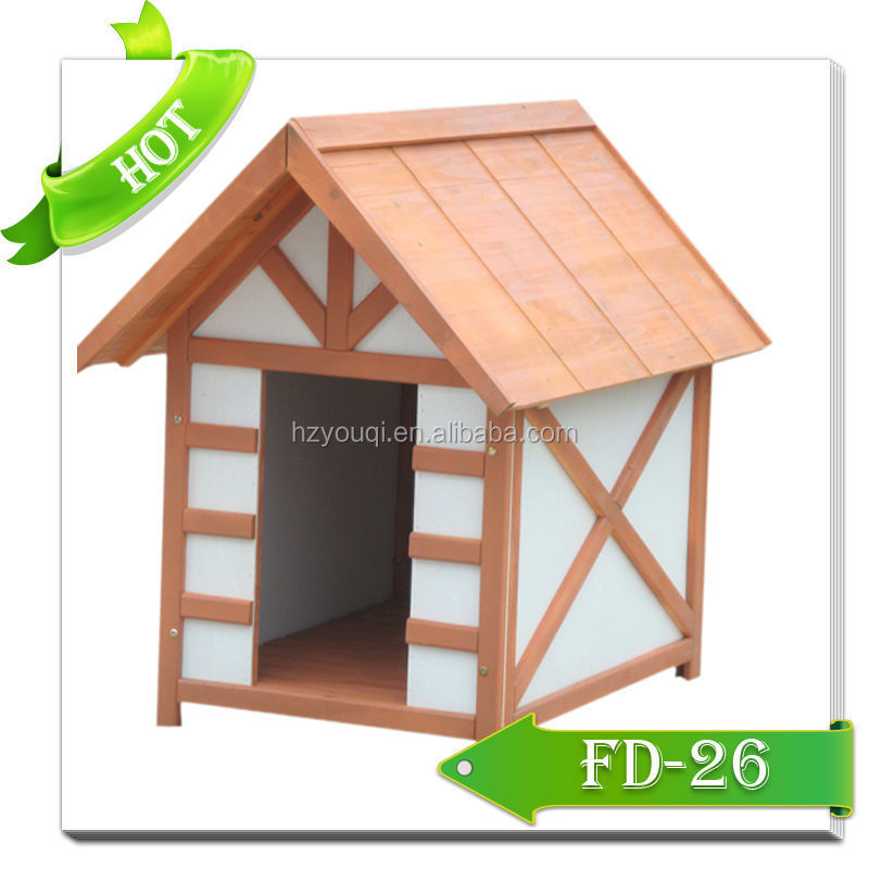Wooden Pet House FD-26,dog house wooden roof dog houses