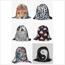 Top Quality Nylon Mesh Foldable Shopping Drawstring Bags