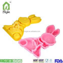 Silicone rabbit shape divided cake pan