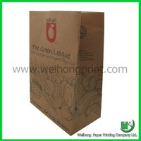 brown kraft paper grocery bags without handle
