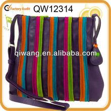 striking leather and suede shoulder bag