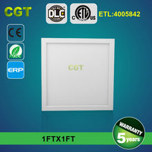 ultra thin square led panel light no flash 300x300mm 1x118w 24w DLC ETL TUV GS 5 years warranty