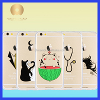 4.7 inch/5.5 inch Clear Crystal Transparent Slim Waterproof Mobile Phone case for phone case