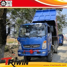 manufacturer customized diesel engine 116hp 103KW 1 ton 1.5 ton 2 ton euro4 4x4 mini dump truck