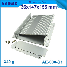 Wall mounting aluminum junction electronics box in Alibaba 36x147x155mm