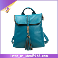 Fancy Vintage style girls leather backpack bags
