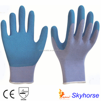 10g High Grade Polyester Shell Latex Foam Coated Safety Work Glove, latex glove making machine