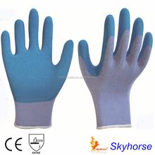 10g High Grade Polyester Shell Latex Foam Coated Safety Work Glove, latex glove making machine