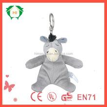 HI plush custom design donkey eeyore plush toy keychain