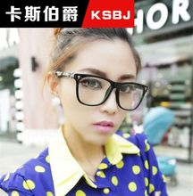 325 ewbjyj [P9259] fashion Hearts glasses big box plain mirror vintage glasses Fashionable men and women