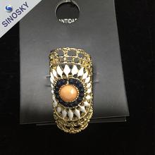 Good quality new style elegant alloy oval dot big ring
