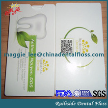 FDA Credit Card Dental Floss(waxed and mint) with Customized Logo