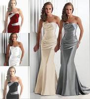 Send fast delivery Sweetheart Sleeveless Royal Blue Burgundy Mermaid Gray Bridesmaid Dresses Vestidos De Wholesale