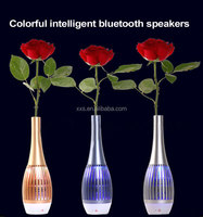 High-grade creative LED colorful vase type intelligent bluetooth stereo APP intelligent control bluetooth speakers gift