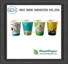 PLA 8oz eco-friendly corn plastic disposable paper coffee cup