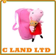 Lovely Backpack Fashion Pretty Plush Lovely Pink Pig Backpack