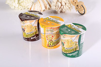 factory wholesale !!! 65g 3 flavors delicious chinese instant cup noodles