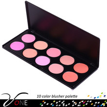 10 color professional blusher palette makeup cosmetic for cheek