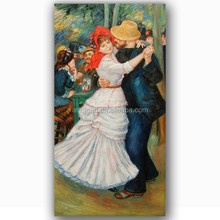 High quality impressionist beautiful waltz dancing girl painting
